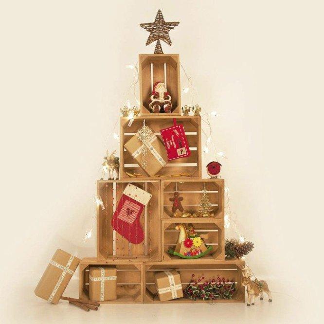 6bd09e2f942 Con este árbol navideño además seremos ecológicos. Necesitamos cajas de  cartón de diferentes tamaños que